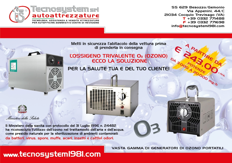 Generatori di ozono portatili